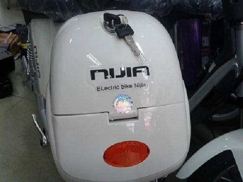 Cốp xe đạp điện Nijia 2014 phanh đĩa lốp liền săm đồng hồ cơ